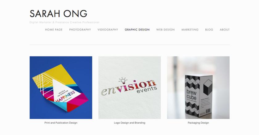 sarah ong website